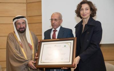 سلطان يكرم الفائزين بجائزة الشّارقة للدراسات اللّغوية والمعجميّة في اليونيسكو بباريس تزامنا مع الاحتفالات باليوم العالمي للغة العربية