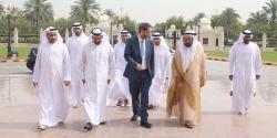 صاحب السمو سلطان القاسمي في زيارته الأولى وتوجيهاته للمجمع