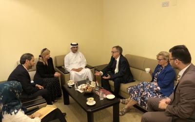 جلسة حوارية حول اللغة العربية ودورنا بالمجمع في خدمتها