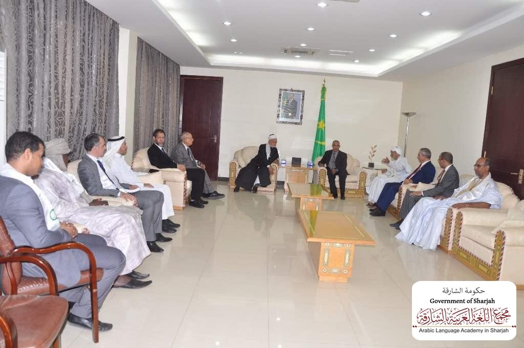 الوزير الأول الموريتاني يستقبل وفد رؤساء المجامع اللغوية على هامش الافتتاح