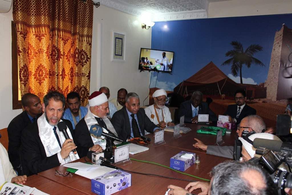 الأمين العام لمجمع اللغة العربية بالشارقة، الدكتور محمد صافي المستغانمي يلقي كلمة القاسمي